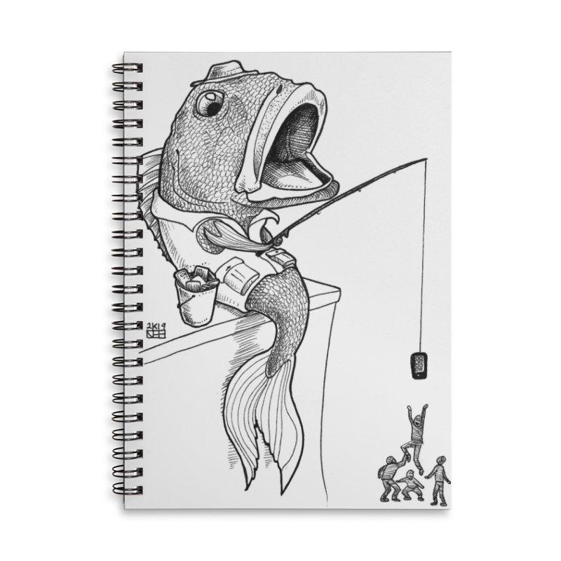 Fish Fish You Accessories Notebook by DEROSNEC's Art Shop