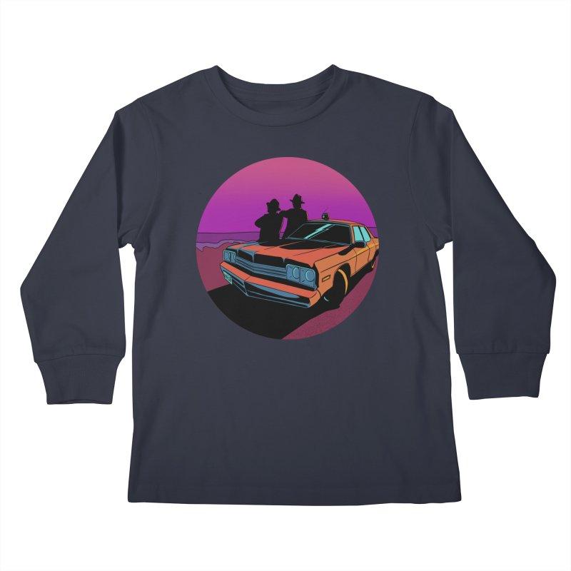 Blues Brothers Flashback Kids Longsleeve T-Shirt by DEROSNEC's Art Shop