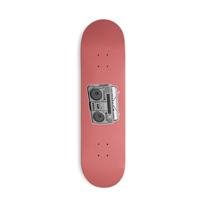 Boom Boom Boom Box Accessories Skateboard by DEROSNEC's Art Shop