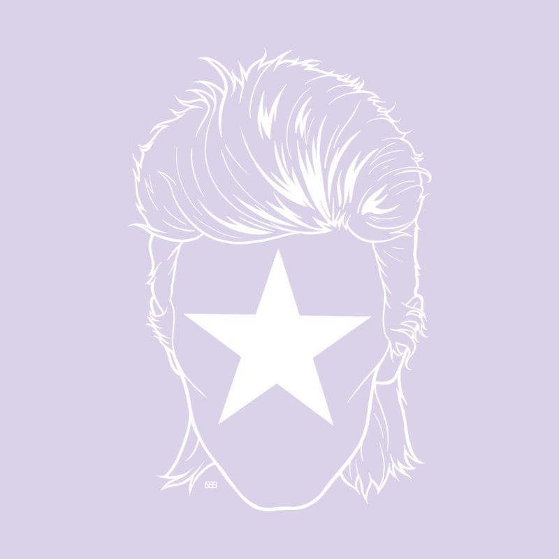Blackstar Bowie Accessories Skateboard by DEROSNEC's Art Shop