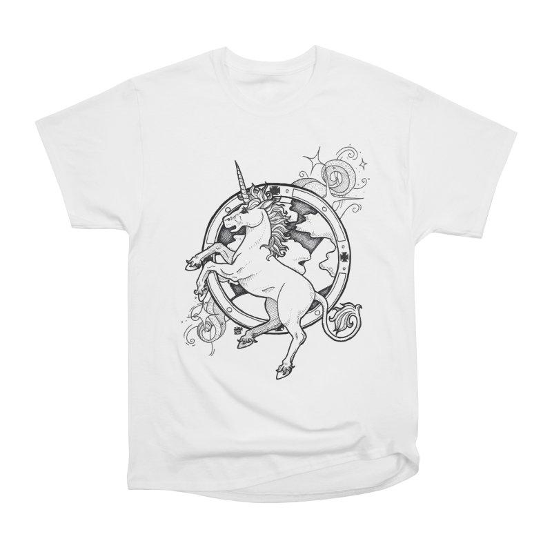 Oldskool Unicorn Women's T-Shirt by DEROSNEC's Art Shop