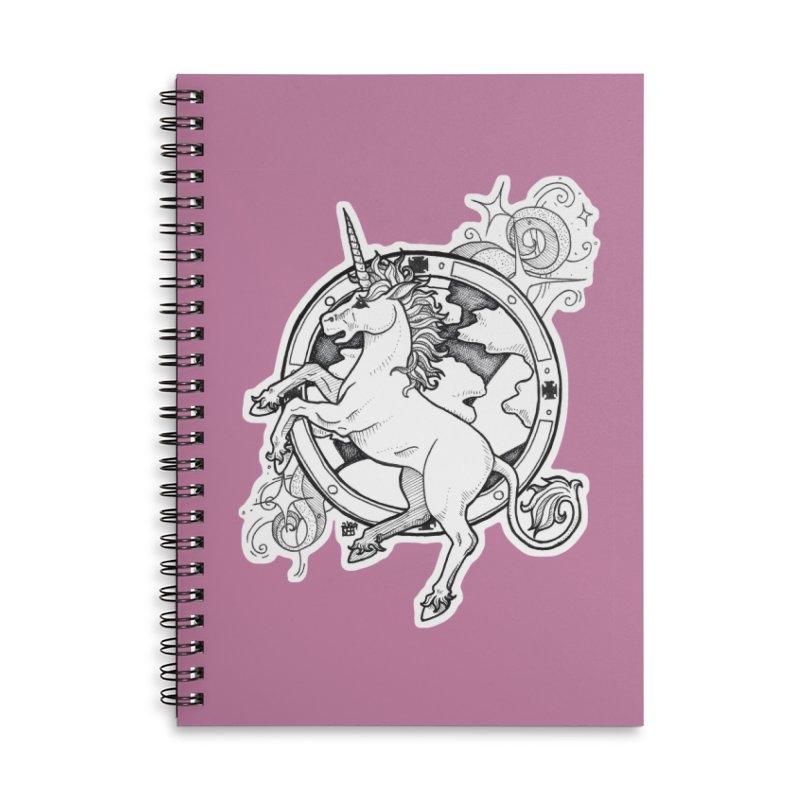 Oldskool Unicorn Accessories Notebook by DEROSNEC's Art Shop