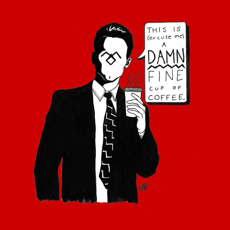 Damn Fine Coffee Home Shower Curtain by DEROSNEC's Art Shop
