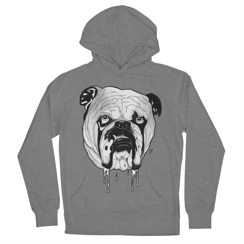 Drooling Women's French Terry Pullover Hoody by DEROSNEC's Art Shop