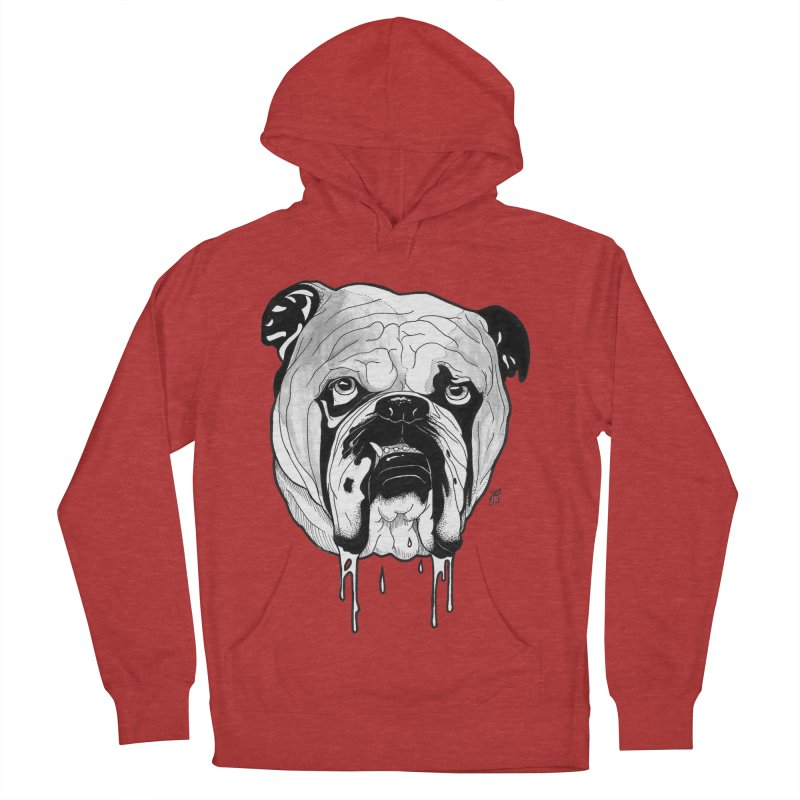 Drooling Men's French Terry Pullover Hoody by DEROSNEC's Art Shop