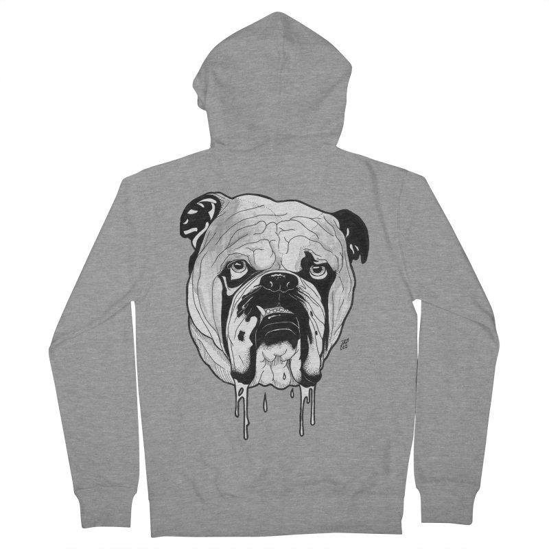 Drooling Women's French Terry Zip-Up Hoody by DEROSNEC's Art Shop