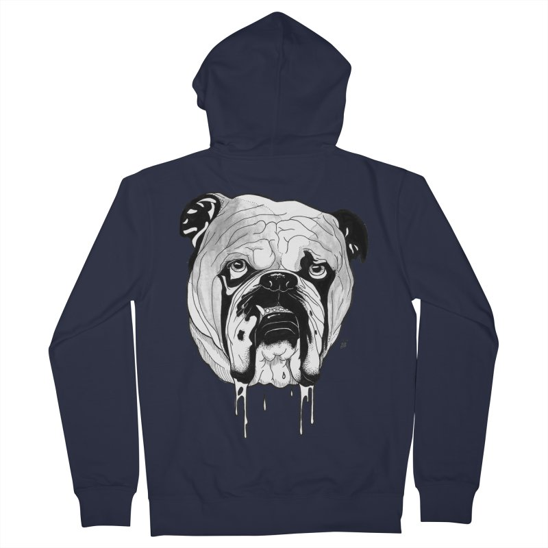 Drooling Men's French Terry Zip-Up Hoody by DEROSNEC's Art Shop