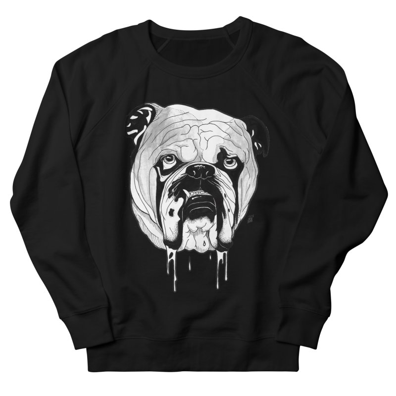 Drooling Men's French Terry Sweatshirt by DEROSNEC's Art Shop