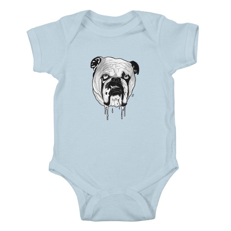 Drooling Kids Baby Bodysuit by DEROSNEC's Art Shop