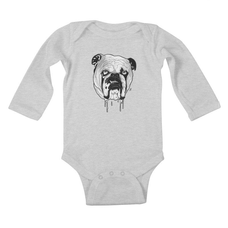 Drooling Kids Baby Longsleeve Bodysuit by DEROSNEC's Art Shop