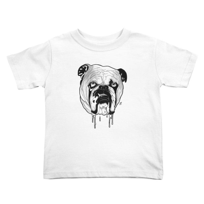 Drooling Kids Toddler T-Shirt by DEROSNEC's Art Shop