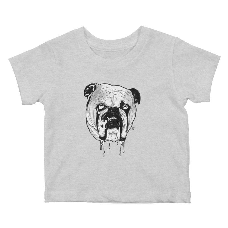Drooling Kids Baby T-Shirt by DEROSNEC's Art Shop