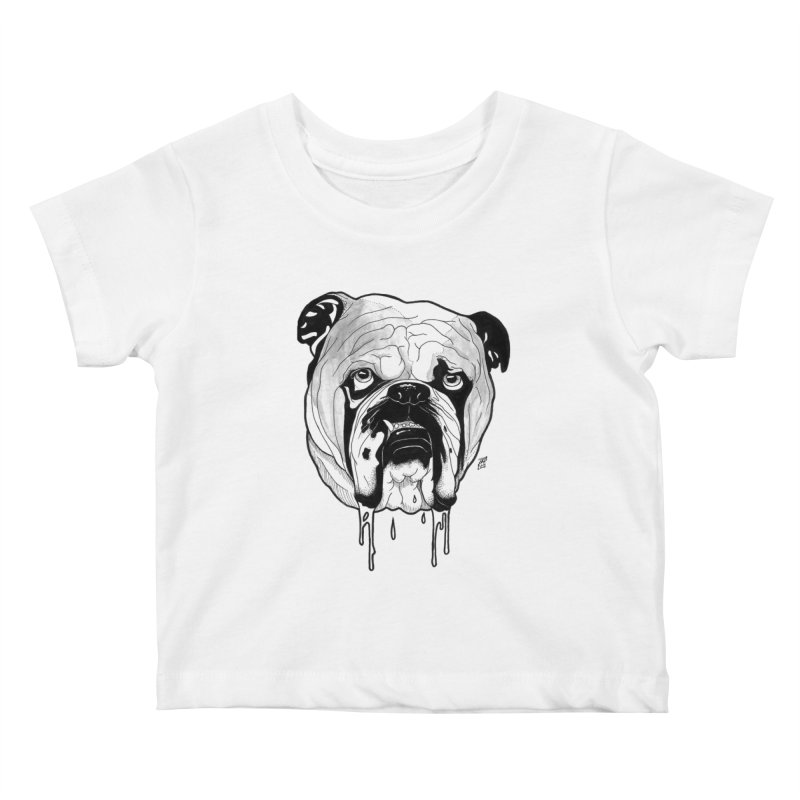 Drooling Kids Baby T-Shirt by DEROSNEC's Art Shop