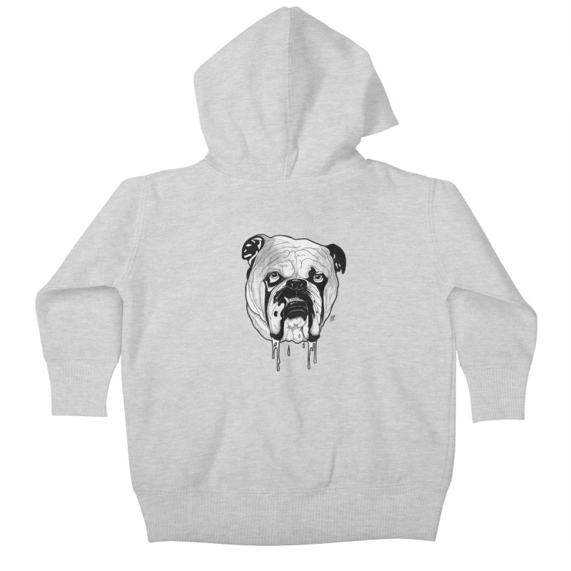 Drooling Kids Baby Zip-Up Hoody by DEROSNEC's Art Shop