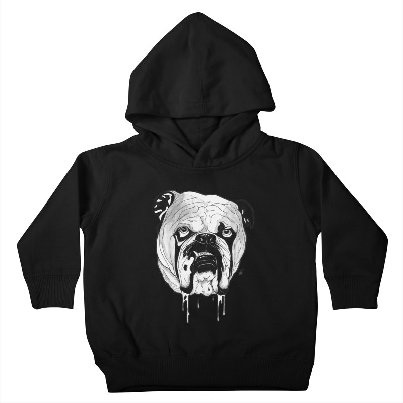 Drooling Kids Toddler Pullover Hoody by DEROSNEC's Art Shop