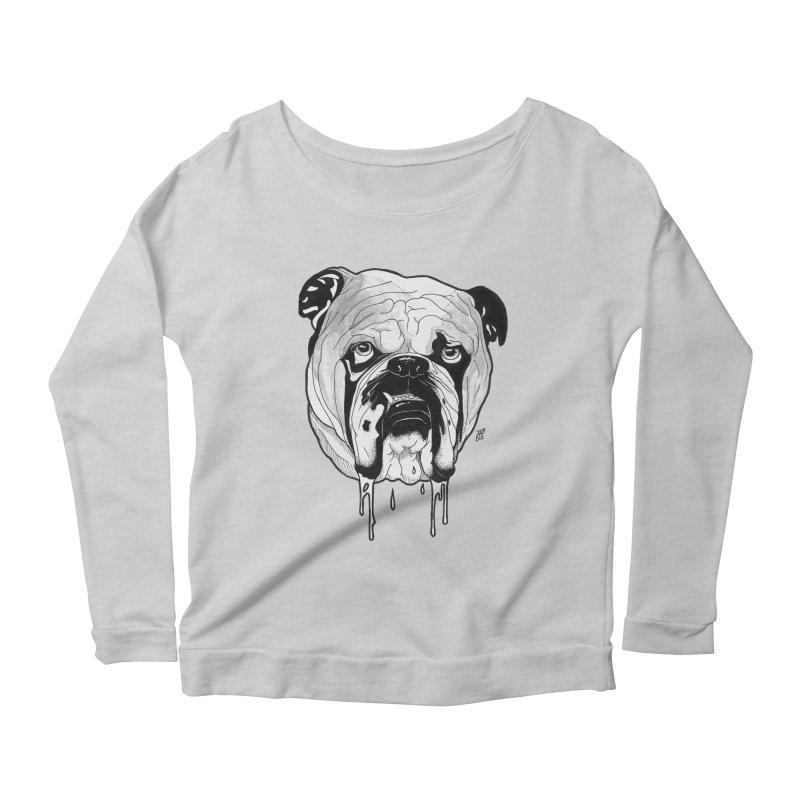 Drooling Women's Scoop Neck Longsleeve T-Shirt by DEROSNEC's Art Shop
