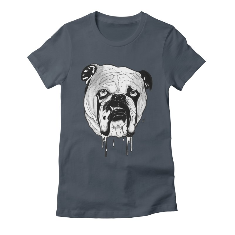 Drooling Women's Fitted T-Shirt by DEROSNEC's Art Shop