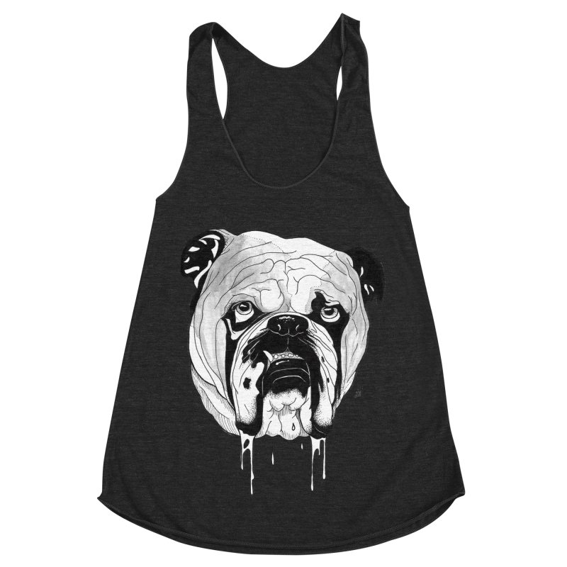 Drooling Women's Racerback Triblend Tank by DEROSNEC's Art Shop
