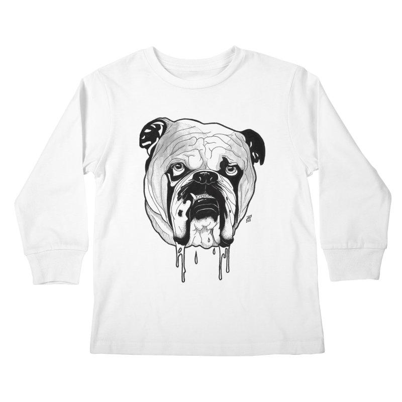 Drooling Kids Longsleeve T-Shirt by DEROSNEC's Art Shop