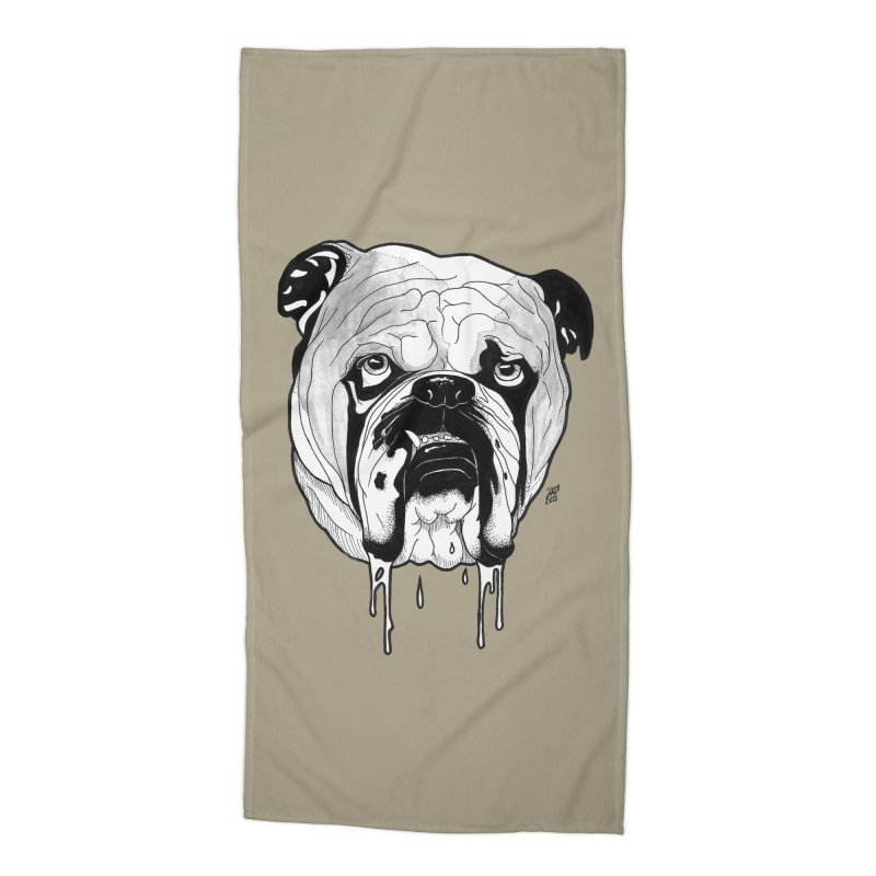 Drooling Accessories Beach Towel by DEROSNEC's Art Shop