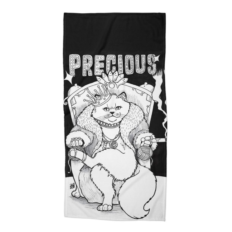 Precious Accessories Beach Towel by DEROSNEC's Art Shop