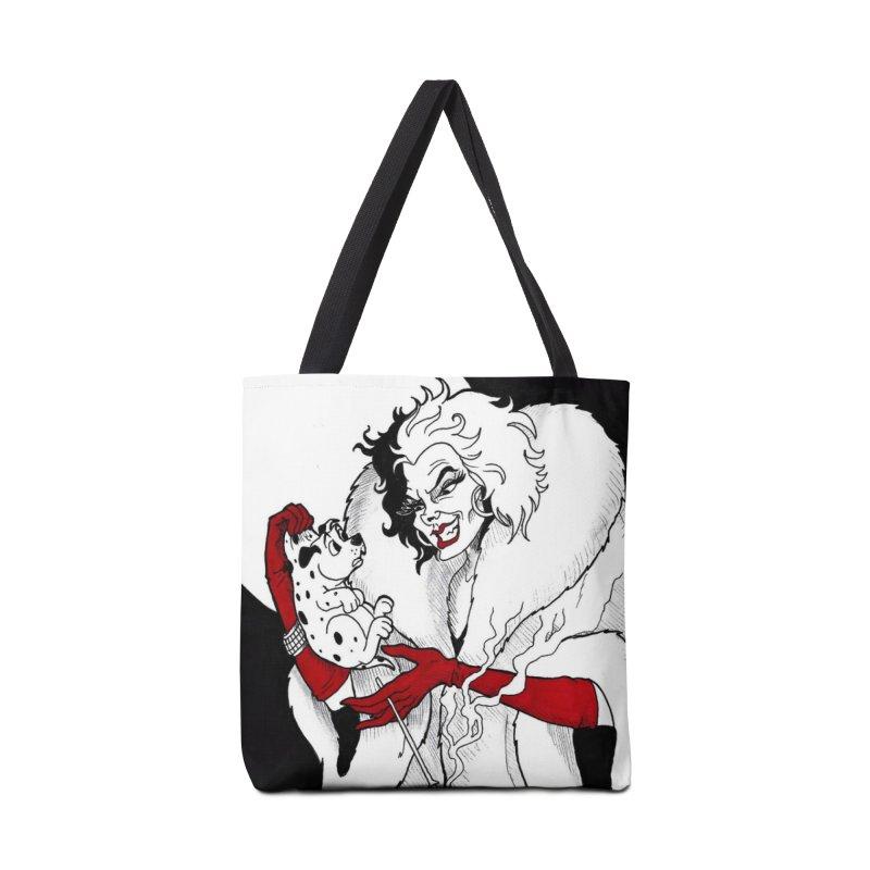 Cruella DeVille Accessories Tote Bag Bag by DEROSNEC's Art Shop