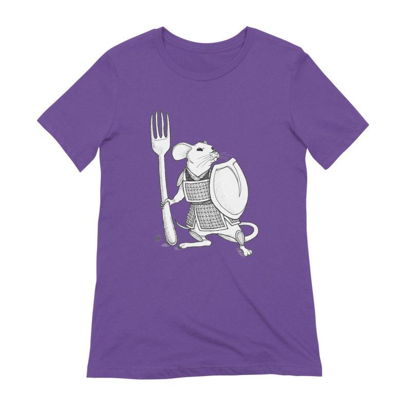 Warrior Mouse Women's Extra Soft T-Shirt by DEROSNEC's Art Shop