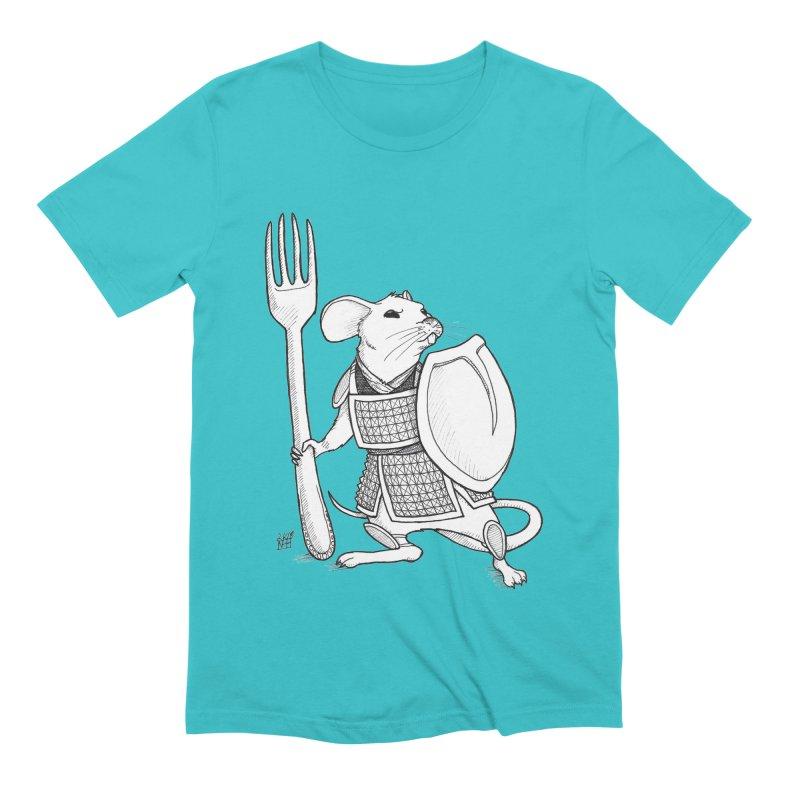 Warrior Mouse Men's Extra Soft T-Shirt by DEROSNEC's Art Shop