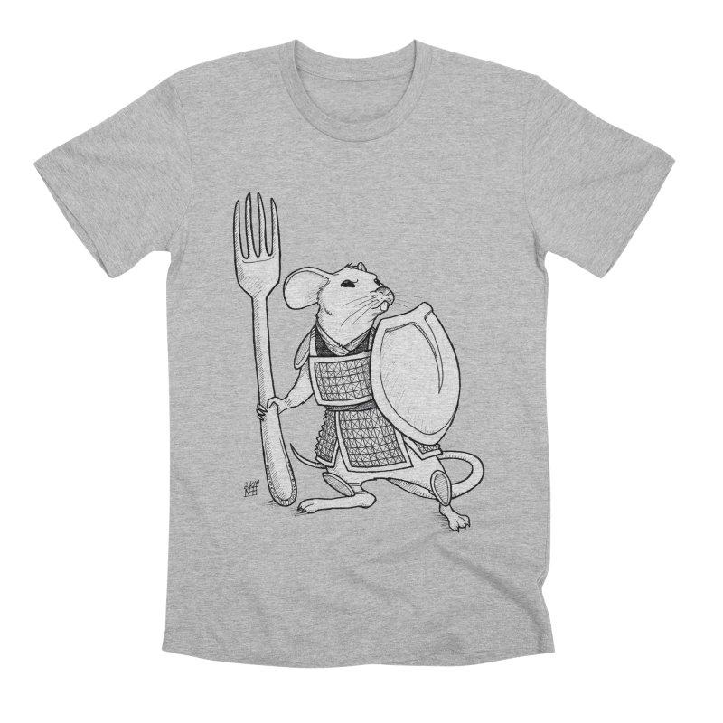 Warrior Mouse Men's Premium T-Shirt by DEROSNEC's Art Shop
