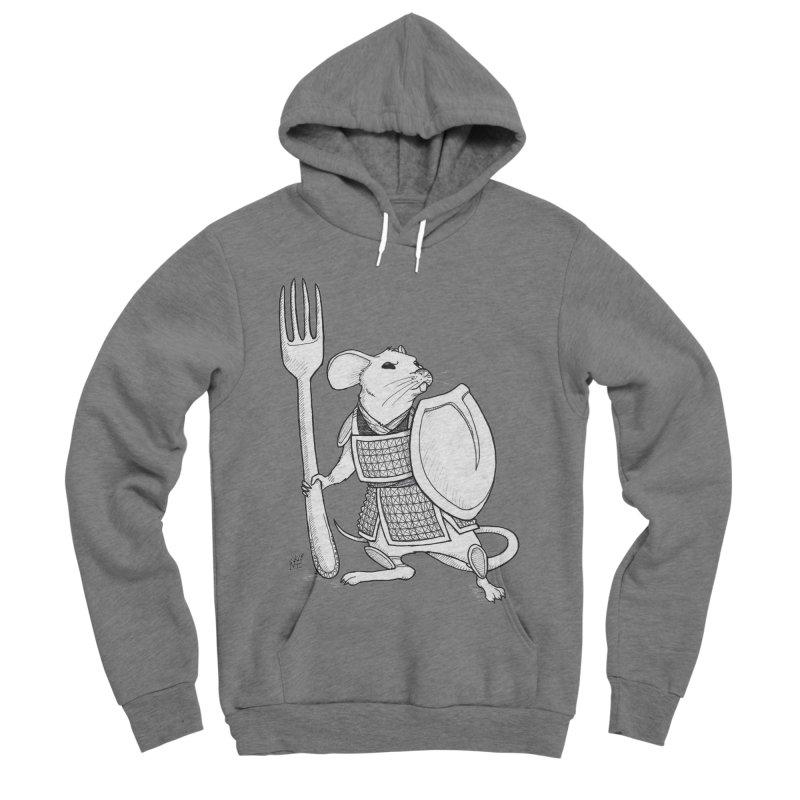 Warrior Mouse Men's Sponge Fleece Pullover Hoody by DEROSNEC's Art Shop