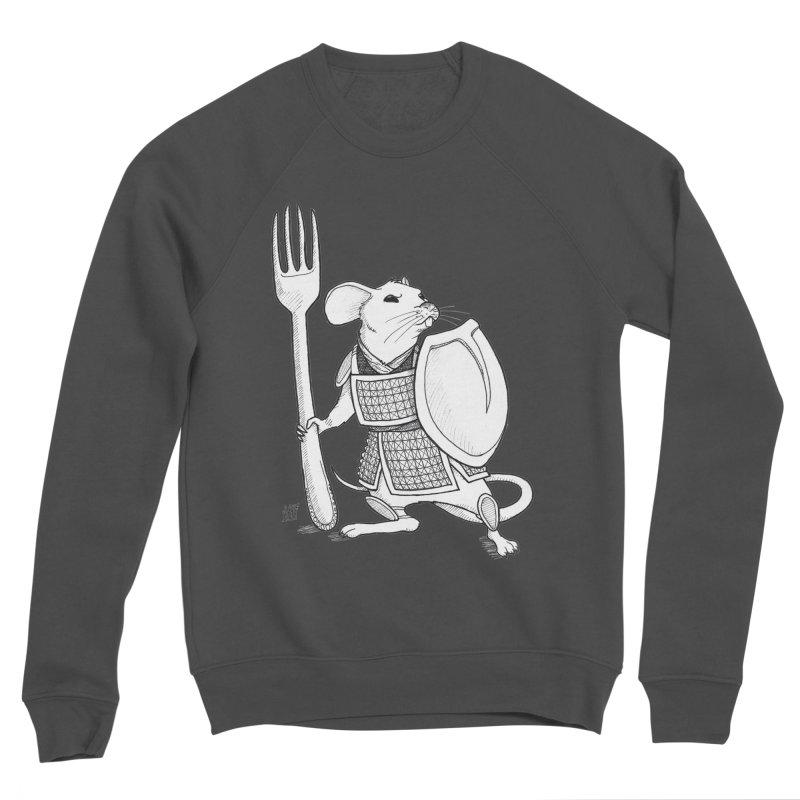 Warrior Mouse Men's Sponge Fleece Sweatshirt by DEROSNEC's Art Shop