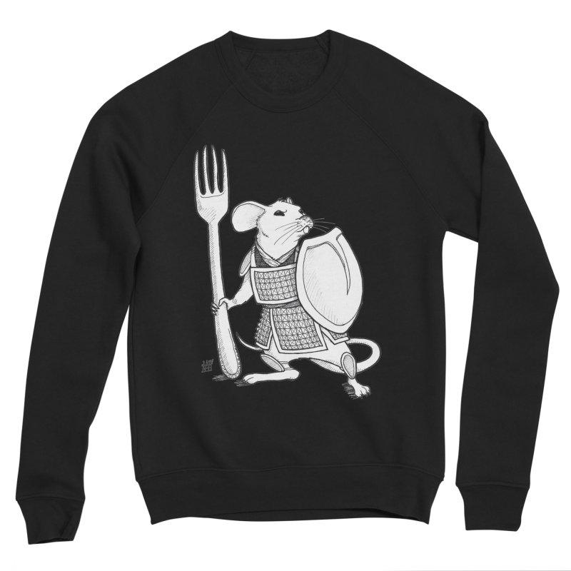 Warrior Mouse Women's Sponge Fleece Sweatshirt by DEROSNEC's Art Shop