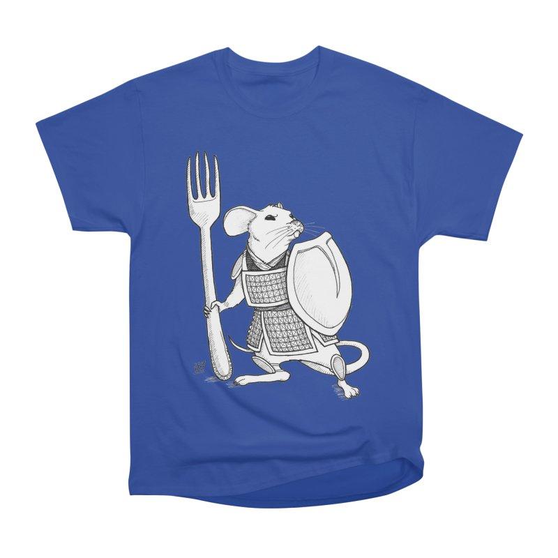 Warrior Mouse Men's Heavyweight T-Shirt by DEROSNEC's Art Shop