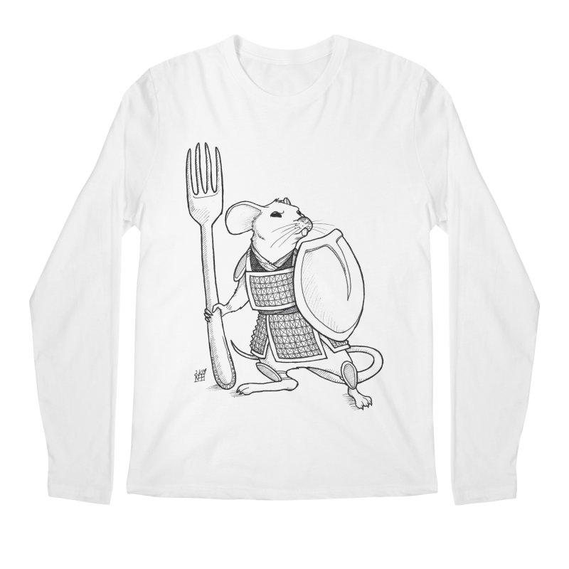 Warrior Mouse Men's Regular Longsleeve T-Shirt by DEROSNEC's Art Shop
