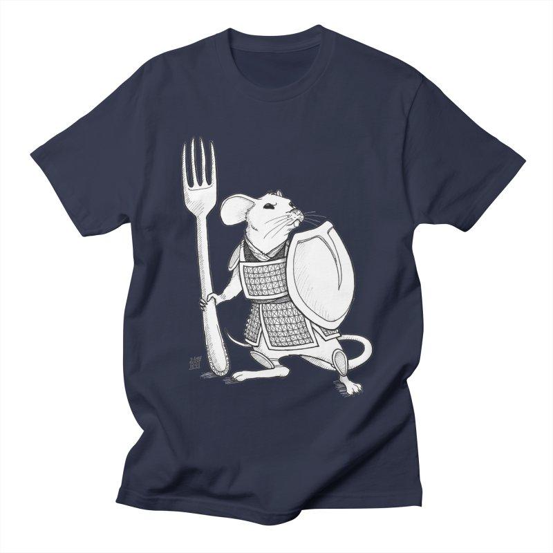 Warrior Mouse Men's Regular T-Shirt by DEROSNEC's Art Shop