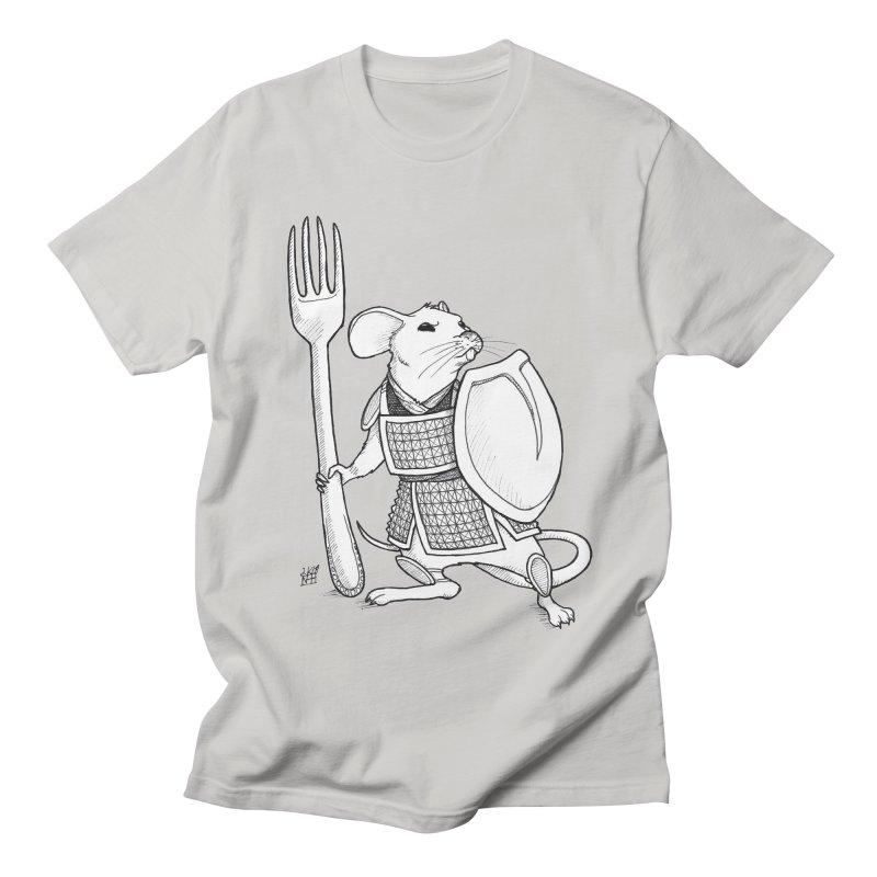 Warrior Mouse Women's Regular Unisex T-Shirt by DEROSNEC's Art Shop