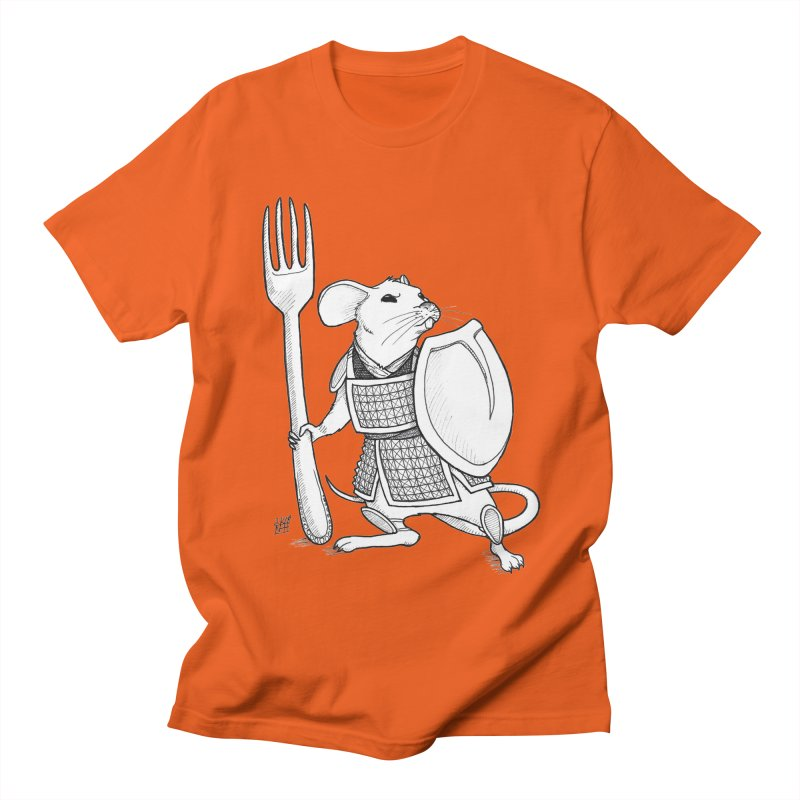 Warrior Mouse Men's Regular T-Shirt by DEROSNEC's Art Shop