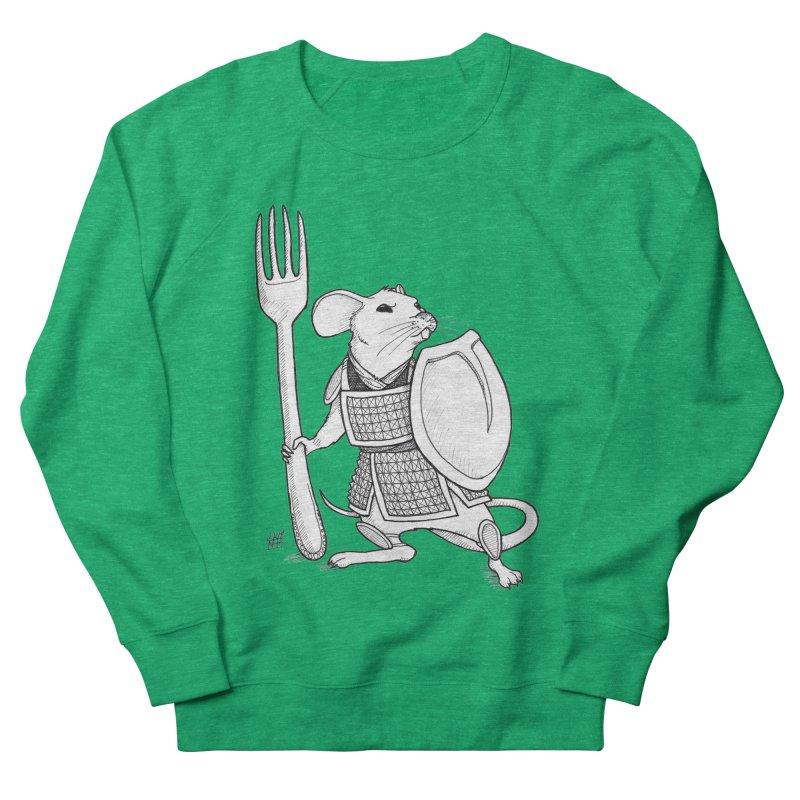Warrior Mouse Women's French Terry Sweatshirt by DEROSNEC's Art Shop
