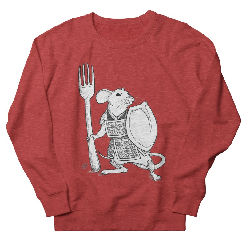 Warrior Mouse Women's French Terry Sweatshirt by DEROSNEC's Art Shop
