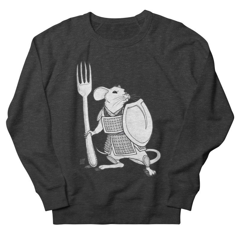 Warrior Mouse Men's French Terry Sweatshirt by DEROSNEC's Art Shop