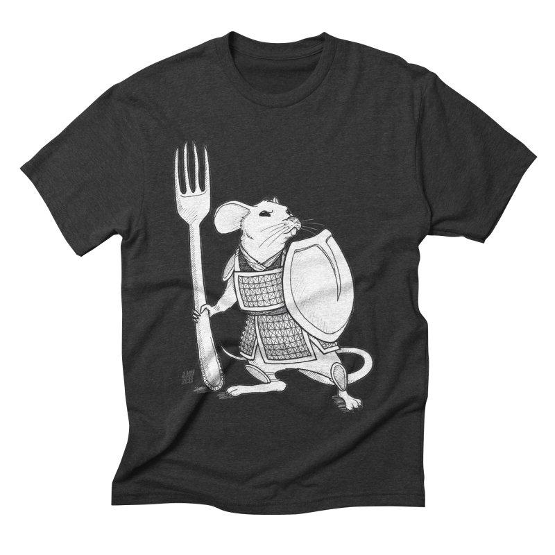 Warrior Mouse Men's Triblend T-Shirt by DEROSNEC's Art Shop