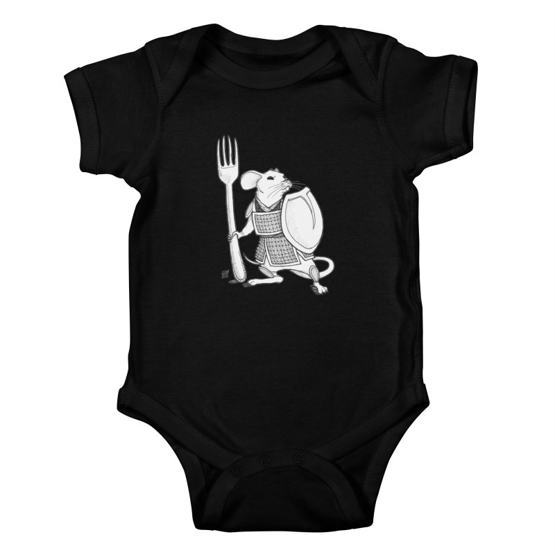Warrior Mouse Kids Baby Bodysuit by DEROSNEC's Art Shop