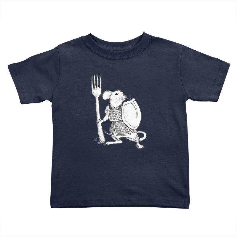 Warrior Mouse Kids Toddler T-Shirt by DEROSNEC's Art Shop
