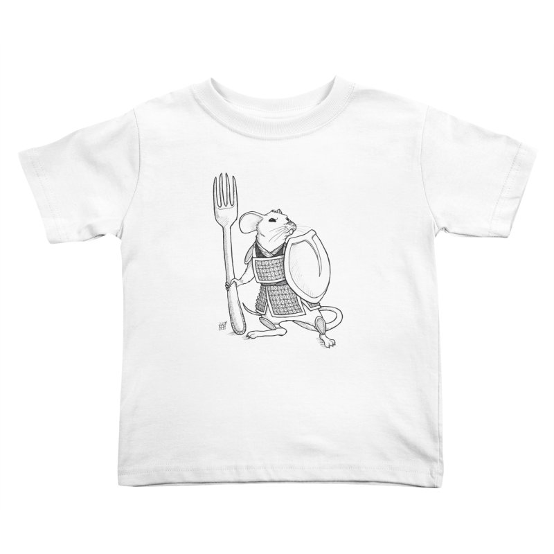 Warrior Mouse Kids Toddler T-Shirt by DEROSNEC's Art Shop