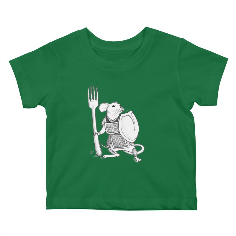 Warrior Mouse Kids Baby T-Shirt by DEROSNEC's Art Shop