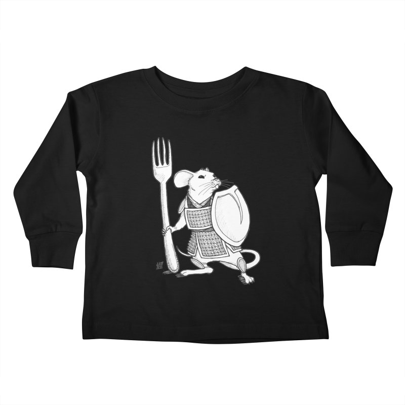 Warrior Mouse Kids Toddler Longsleeve T-Shirt by DEROSNEC's Art Shop