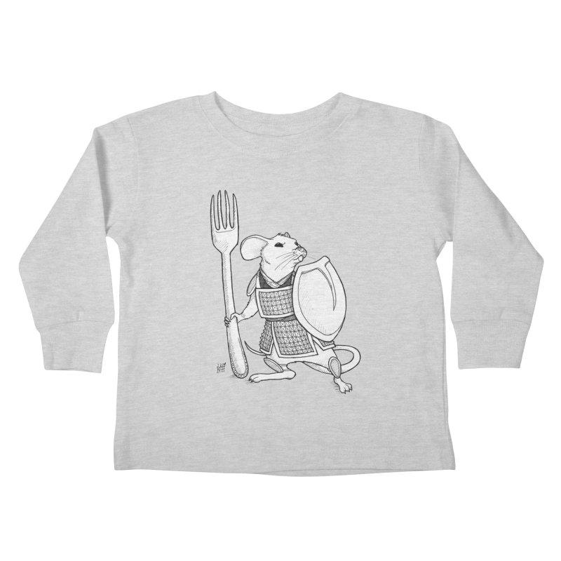 Warrior Mouse Kids Toddler Longsleeve T-Shirt by DEROSNEC's Art Shop
