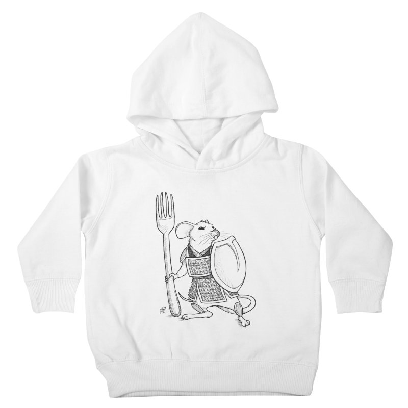 Warrior Mouse Kids Toddler Pullover Hoody by DEROSNEC's Art Shop