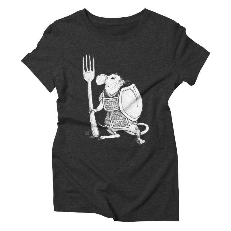 Warrior Mouse Women's Triblend T-Shirt by DEROSNEC's Art Shop