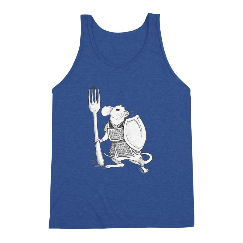 Warrior Mouse Men's Triblend Tank by DEROSNEC's Art Shop